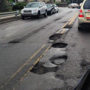 Braddock Ave has fallen victim to the common woe of potholes