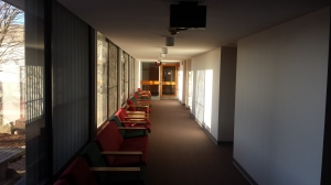Inside the dorm area.