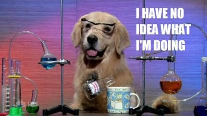 I have no idea what I'm doing (Chemistry Dog)