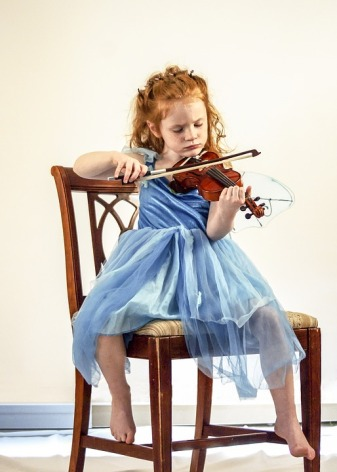 Music Musical Instrument Child Violin Girl